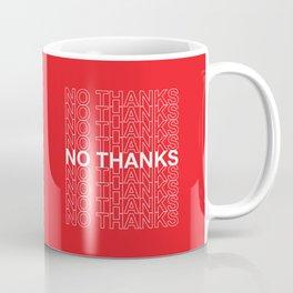 No Thanks Typography Pattern Coffee Mug