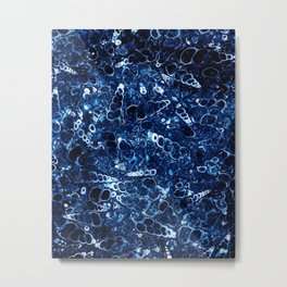 Blue stone with small shells Metal Print
