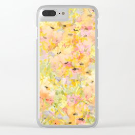 Buttercup Fields Forever Clear iPhone Case
