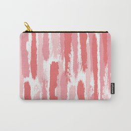 Brushstrokes Stripes Pattern - Pink, Rose, Coral, Peach Carry-All Pouch