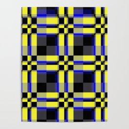 pattern jellow blue black Poster