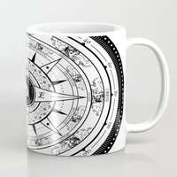 compass Mugs featuring Compass Rose by 83 Drops