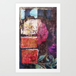 Round Love in a Square Hole Art Print