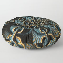 House of Chains Fractal Floor Pillow