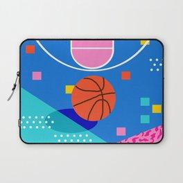 Shot Caller - memphis retro basketball sports athletic art design neon throwback 80s style Laptop Sleeve