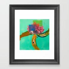 Third eye (lotus) Framed Art Print