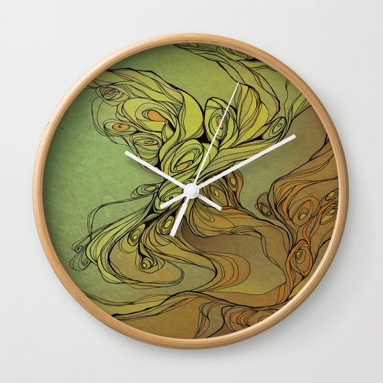 abstract floral composition Wall Clock