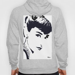 Audrey Simply Beautiful in Black and white Hoody