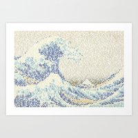 Riders On The Great Wave Art Print