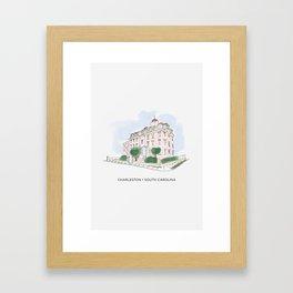 Charleston • South Carolina (Wentworth Mansion) Framed Art Print
