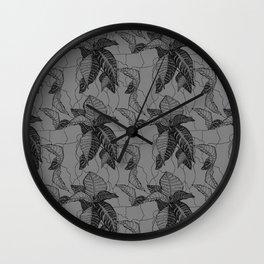 Croton in Grey Wall Clock