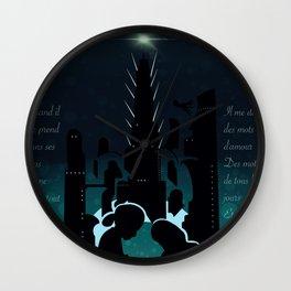 La Vie En Rose - Burial at Sea Wall Clock