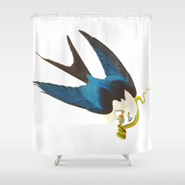 Swallow-tailed Hawk Shower Curtain