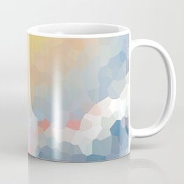 Between clouds. Abstract sky background Coffee Mug