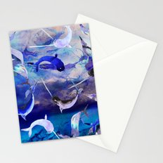 Ocean narwhal  Stationery Cards