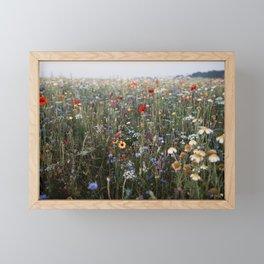 Dreamy wildflowerfield | photo print of a field full of wildflowers Framed Mini Art Print