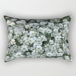 Snow In Summer - Cerastium Silver Carpet Flower Rectangular Pillow