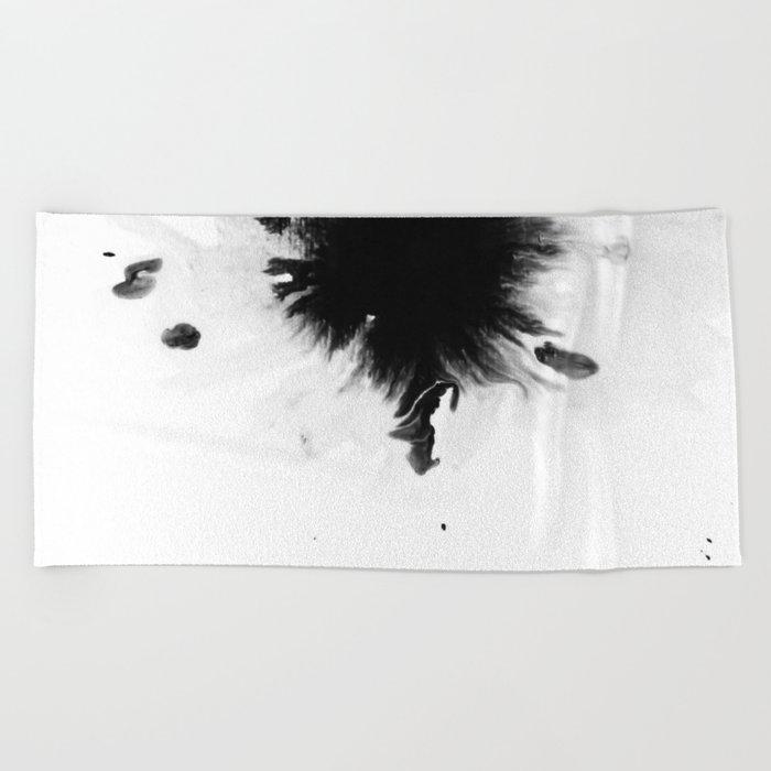 Black Ink II Beach Towel