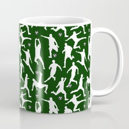 Soccer Players // Dark Green Coffee Mug