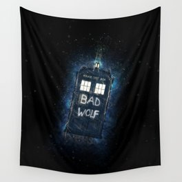 Bad Wolf TARDIS Wall Tapestry