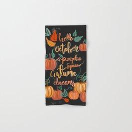 Hello October Hand & Bath Towel