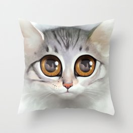 Kitten 5 Throw Pillow