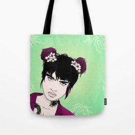 Badass Dragon Lady Tote Bag