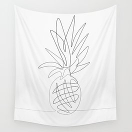 One Line Pineapple Wall Tapestry