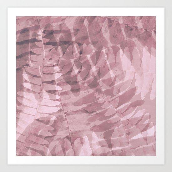 FERN PATTERN - PINKS Art Print