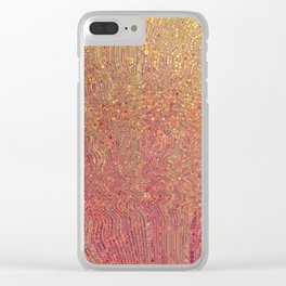 chantal - rose gold ombre gradient abstract design Clear iPhone Case