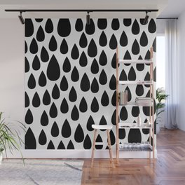 Black drops Wall Mural
