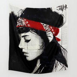RED BANDANA Wall Tapestry