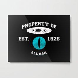 Korrok's School Varsity  Metal Print
