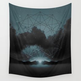 Beyond the Fog Lies Clarity   Midnight Wall Tapestry