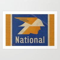 the national Art Prints featuring National Logo by Bruce Stanfield