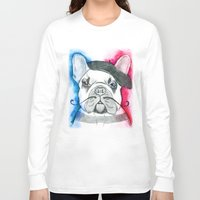 frenchie Long Sleeve T-shirts featuring Frenchie by Irasema Langarica