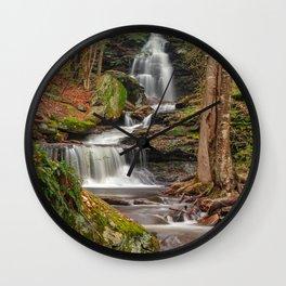 Ricketts Glen Waterfall Layers Wall Clock