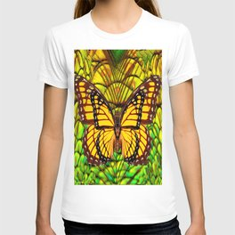FANTASY YELLOW MONARCH BUTTERFLY LIME COLOR T-shirt