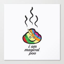 Magical poo Canvas Print