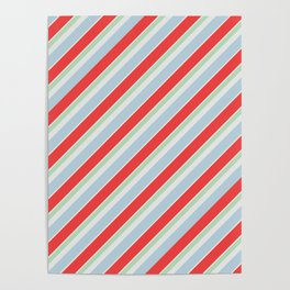 Winter stripes Poster