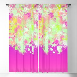 paint splatter on gradient pattern pgoi Blackout Curtain