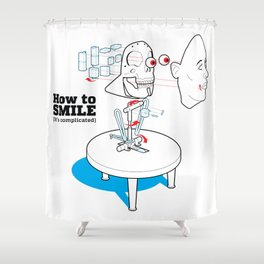 How to Smile Shower Curtain