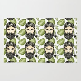 Man With Pipe - Tropical Art Rug