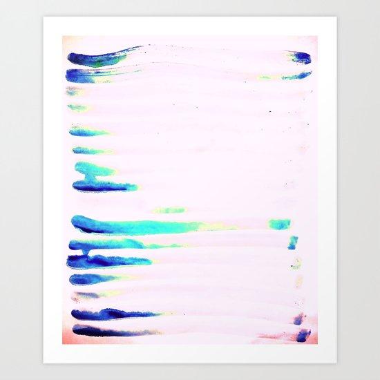 Colorful Seaside Stripes Art Print