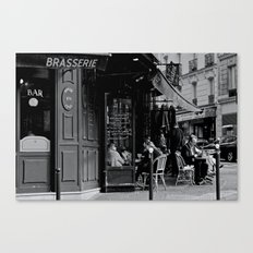 At the Brasserie Canvas Print
