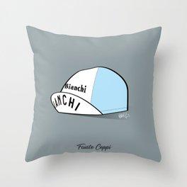 Grimpeur - Coppi cap Throw Pillow