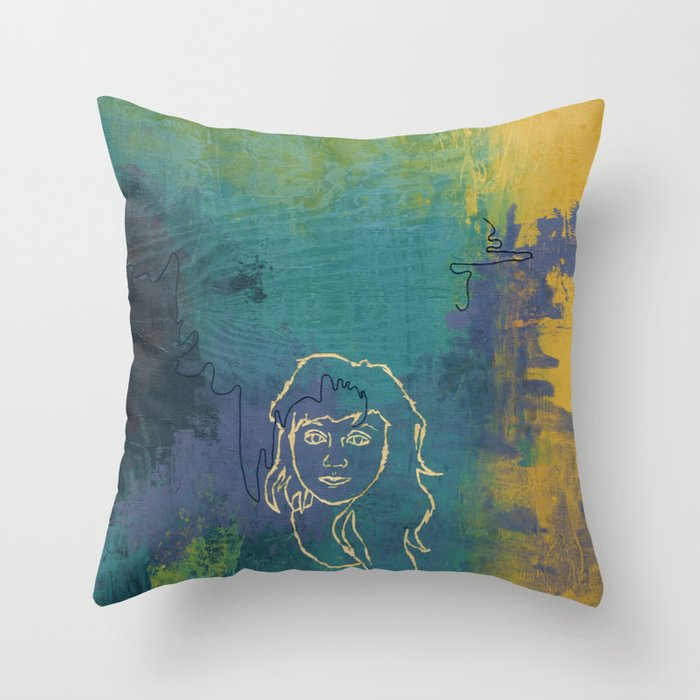 Notorious Nectarines Throw Pillow