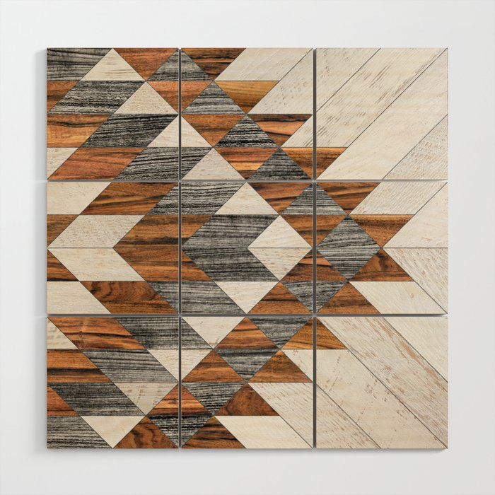 Urban Tribal Pattern 12 - Aztec - Wood Wood Wall Art