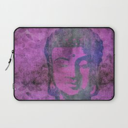 Watercolor Buddha Head Illustration Laptop Sleeve