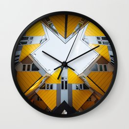 Kubuswoningen by Piet Blom Architect | Rotterdam Wall Clock